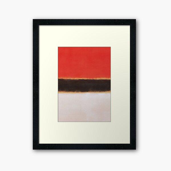 Mark Rothko Painting Style Art White Orange Black Framed Art Print