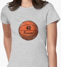Teen Wolf Beavers Womens Fitted T-Shirt