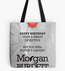 Morgan Burdett Detective Birthday Card Tote Bag