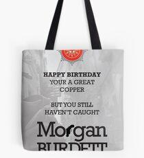 Morgan Burdett Copper Birthday Card Tote Bag