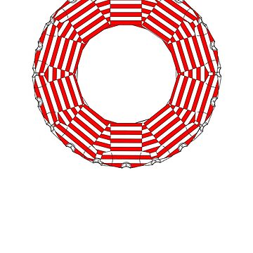 ring-o-t-shirts red and white  by IanByfordArt