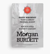 Morgan Burdett Federal Agent Birthday Card Canvas Print