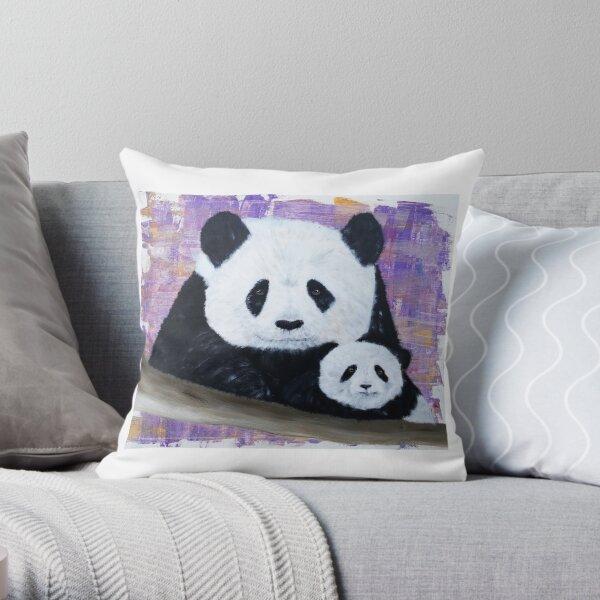 Panda et son bébé Coussin