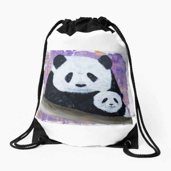 Panda et son bébé Sac à cordon