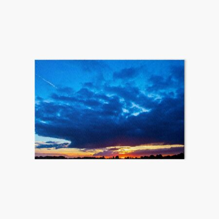 Blue Sunset Art Board Print
