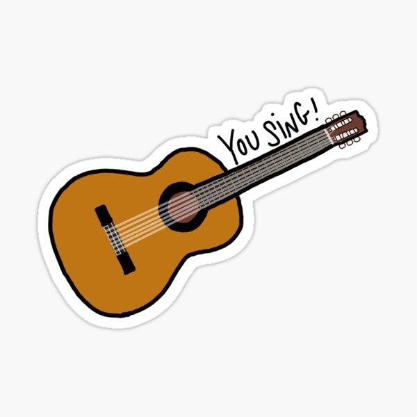 """guitarra niall horan """"cantas!"""" Pegatina"""