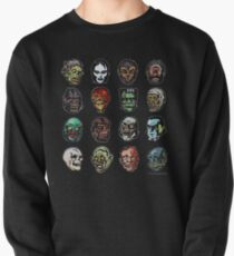Horror Movie Monster Masks (color) Pullover