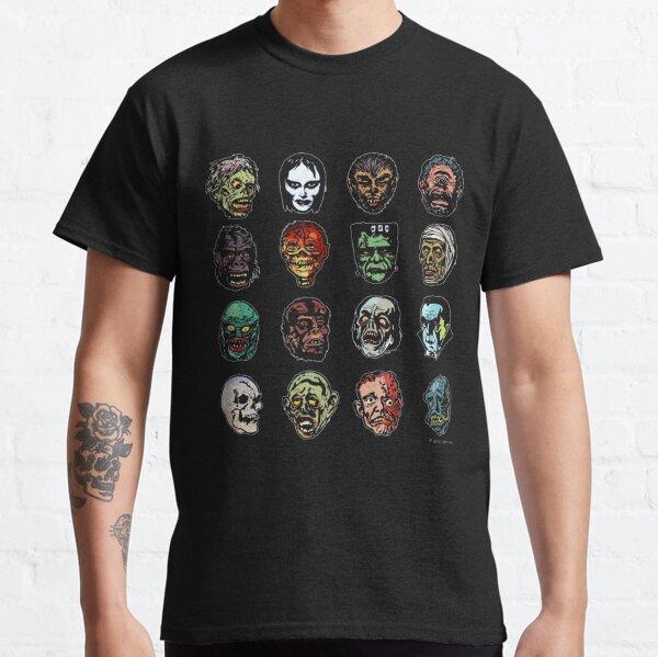 Horror Movie Monster Masks (color) Classic T-Shirt