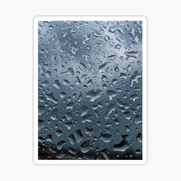 Raindrops on the window Sticker