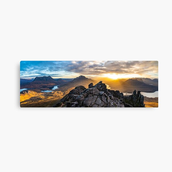 Morning on Stac Pollaidh - A Panorama Canvas Print