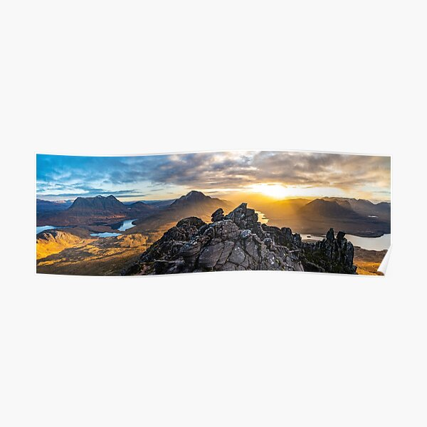 Morning on Stac Pollaidh - A Panorama Poster