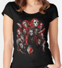 Jason Voorhees (Beaucoup de visages de) T-shirt échancré