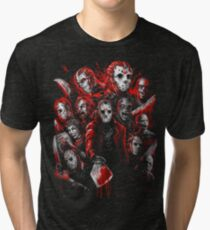 Jason Voorhees (Many faces of) Tri-blend T-Shirt