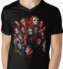 Jason Voorhees (Many faces of) Men's V-Neck T-Shirt