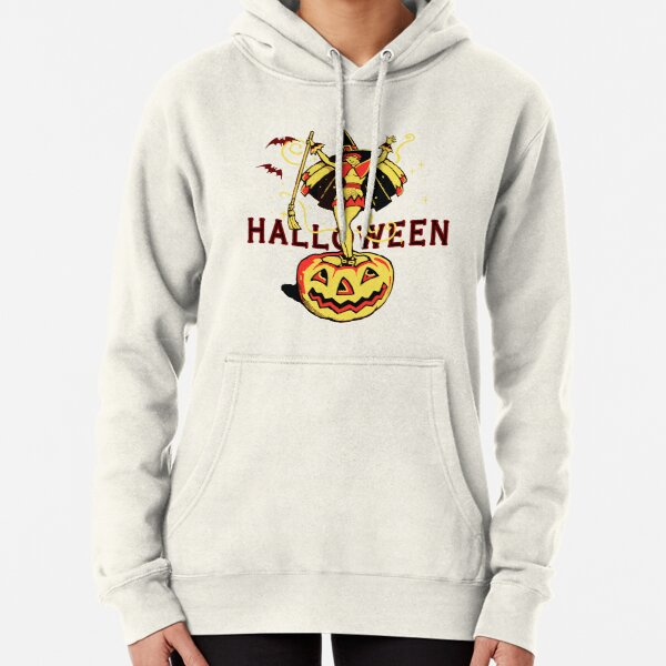 Halloween Witch Girl (vintage) Pullover Hoodie