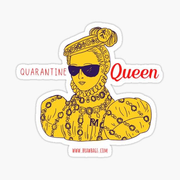 Quarantine Queen - Pop of Color Mustard/Cherry Sticker