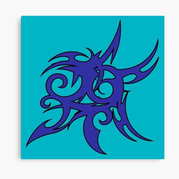 Tribales Design / Tattoo Leinwanddruck
