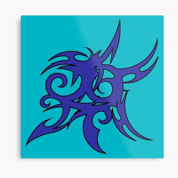 Tribales Design / Tattoo Metallbild