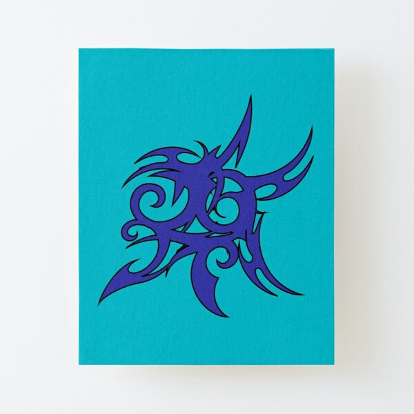 Tribales Design / Tattoo Aufgezogener Druck auf Leinwandkarton