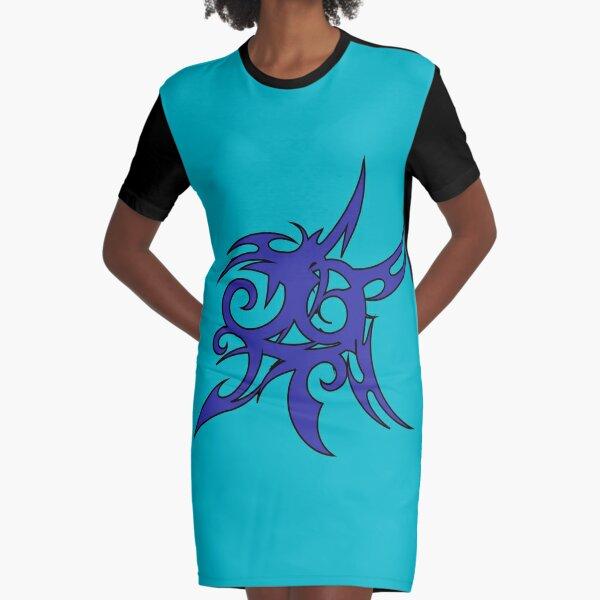 Tribales Design / Tattoo T-Shirt Kleid