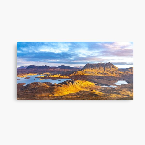 Suilven, Canisp, Cul Mor from Stac Pollaidh Metal Print