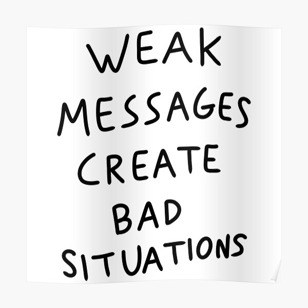 Matty Healy Weak Messages Create Bad Situations Tattoo Poster