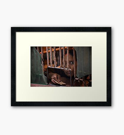 Waiting to Pay Framed Print
