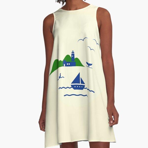 Schönen Urlaub A-Linien Kleid