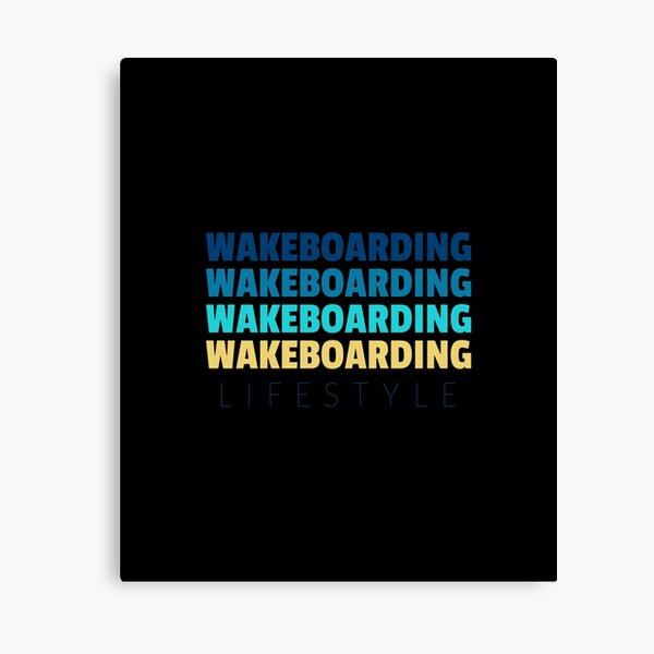 Wakeboarding Lifestyle Aloha Summer Design Canvas Print