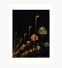 Blackpool at night Art Print