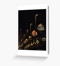 Blackpool at night Greeting Card