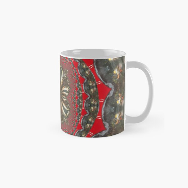 """""""Storm in a Paint Bucket"""" Red Gray Geometric/Lyrical Abstract Art Galaxy - Jenny Meehan Classic Mug"""
