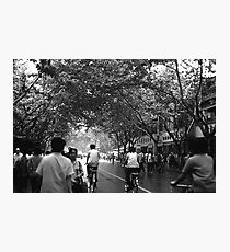 BW China Shanghai street 1970s Photographic Print