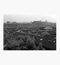 BW China Shanghai City 1970s Photographic Print