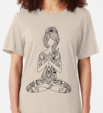 Yoga Om Chakras Mindfulness Meditation Zen 3 Slim Fit T-Shirt