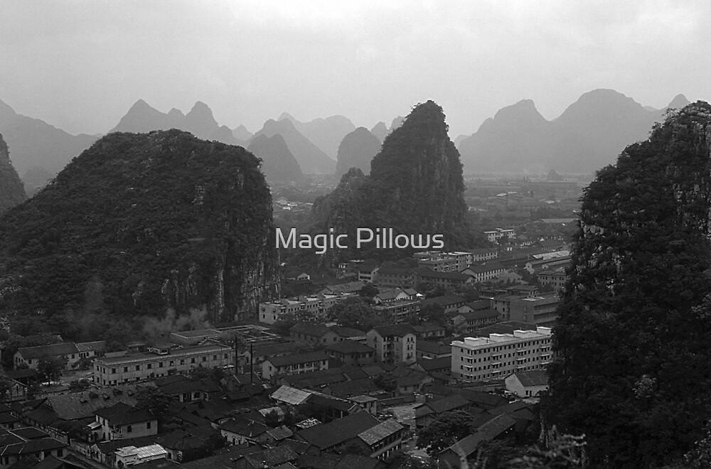 BW China Guilin city 1970s by blackwhitephoto