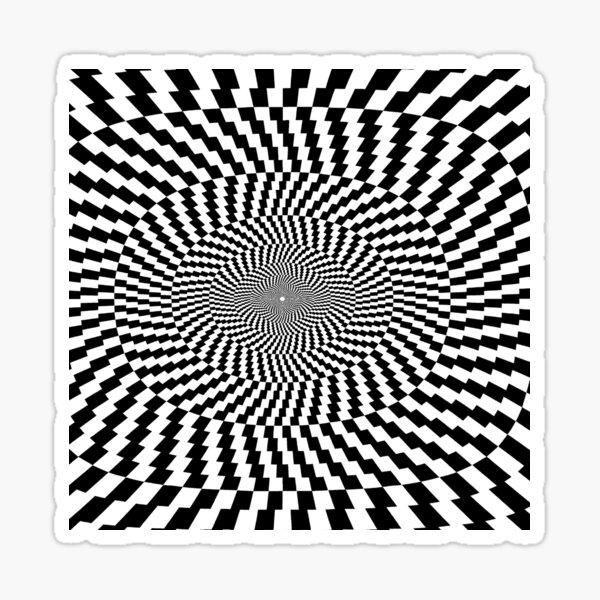 Optical Illusion, Visual Illusion, Physical Illusion, Physiological Illusion, Cognitive Illusions Sticker