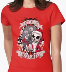 Scary Santa Women's Fitted T-Shirt