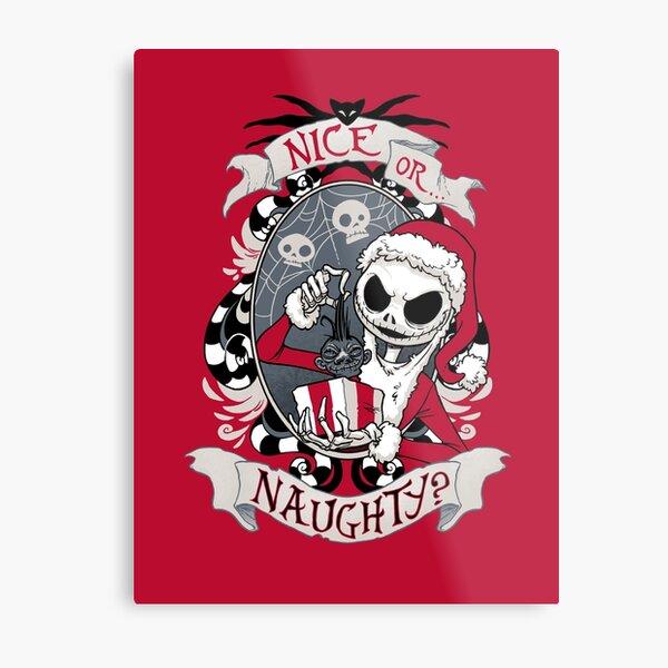 Scary Santa Metal Print