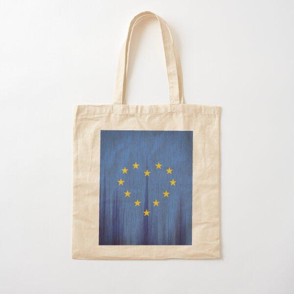 Europe, European Flag Design, Pro-EU Design, Anti-Brexit, heart-shaped, vintage look Cotton Tote Bag