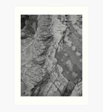 rock patterns - b/w Art Print