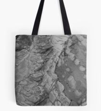 rock patterns - b/w Tote Bag