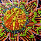 367 - FRAGMENTED FLORAL FANTASY - DAVE EDWARDS - COLOURED PENCILS - 2012 by BLYTHART
