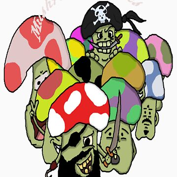 Pirate Mushrooms by Collinski