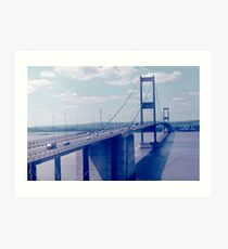 The Severn Bridge from Aust (1970s) Art Print