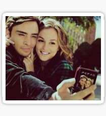 Gossip girl Chuck and Blair taking a picture Sticker