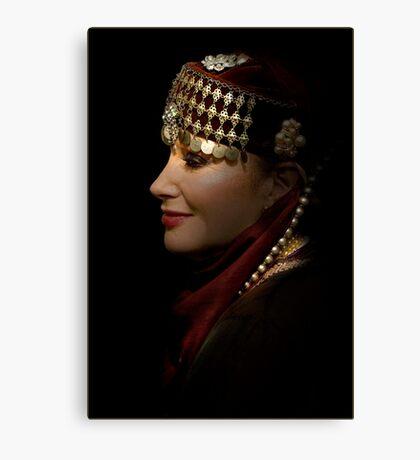 portrait of a gypsy woman Canvas Print