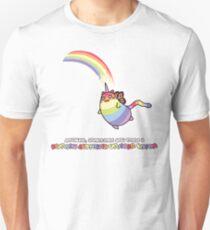 Rainbow Butterfly Unicorn Kitten T-Shirt