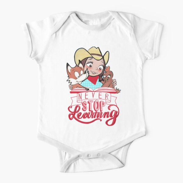 Never Stop Learning - Miss Jamie's Farm Short Sleeve Baby One-Piece
