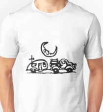 Rubber Stamp, The Truck, The Trailer And The Sleepy Moon Unisex T-Shirt